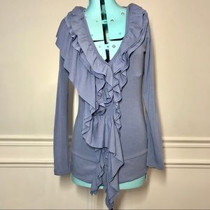 Boston Proper periwinkle Button Front cardigan top